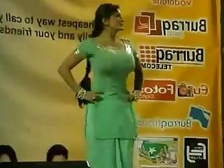 Big Tits Boobs Bus Busty Dancing Indian MILF Public