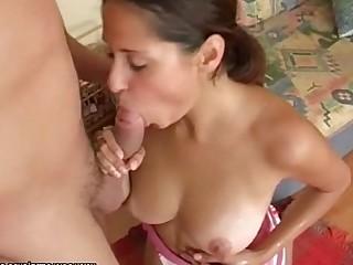 Babe Big Tits Brunette Bus Busty Close Up Big Cock Cumshot
