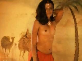 Brunette Dancing Erotic Exotic Indian Interracial MILF Nude