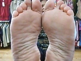 Feet Hot Indian Mature Solo