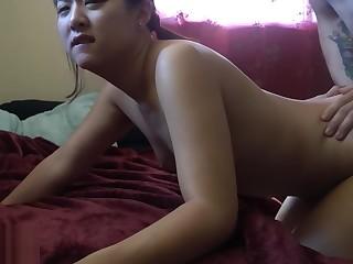 Amateur Anal Blowjob Couple Deepthroat HD Indonesian Interracial
