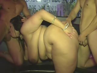 Brunette BBW Fatty Indian MILF Party Threesome